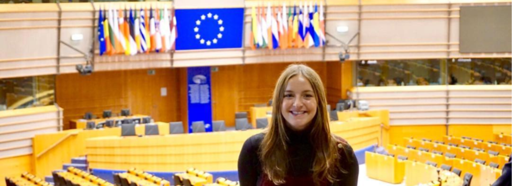 Cara Duffy at EU Parliament