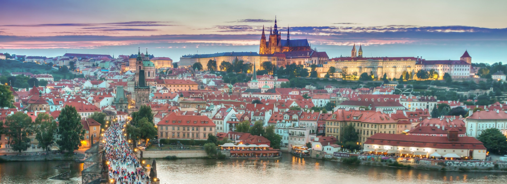 Prague Panorama at Sunset